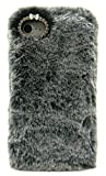 3C Collection Coque Iphone 7 Fourrure Noir, Coque Iphone 8 Poilue, Coque Hirsute pour...