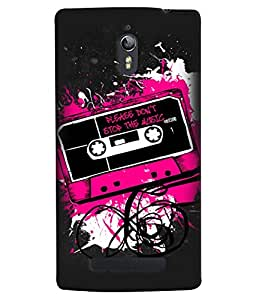 Fuson Premium Don`T Stop Music Printed Hard Plastic Back Case Cover for Oppo Find 7
