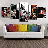 ZEMER Suicide Squad Joker VS Batman Marvel DC Comics Super Hero Murale Pop Art Gifts peintures sur Toile Poster des Impressions sans Cadre Large