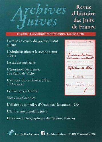 archives-juives-n-41-1-dossier-les-victions-professionnelles-sous-vichy