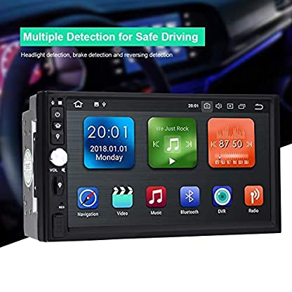 Garsent-Autoradio-Navigation-Android-81-WiFi-Auto-Multimedia-Player-mit-GPS-Cortex-A35-Quad-Core-2G-16GB-Autoradio-MP5-Player-Bluetooth-20-Untersttzung-AUX-USB-SD-AMFM-Radio-Rckfahrkamera
