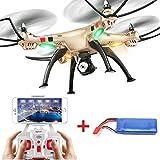 Showkoo Syma X8HC 2.4G 4 canales 6 Axis Gyro Barómetro de septiembre Altura Quadcopter RTF con la cámara de 2,0 MP y 1PC 2000nAh Batería Adicional