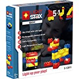 Light Stax S-12011 Set, kompatibel zu Lego, mit 30 LED-Bausteinen in 3 Farben Plus Mobile Power Brick
