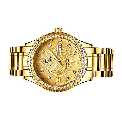 c38cd971886c Baoblaze Reloj de Pulsera Analógico Mecánico Automático de Lujo para Hombres  - Oro