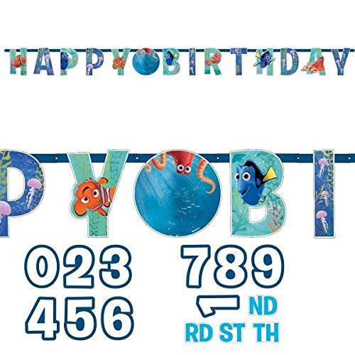 Amscan finden Dory Happy Birthday hinzufügen einem Alter Banner (Birthday Nemo Banner)