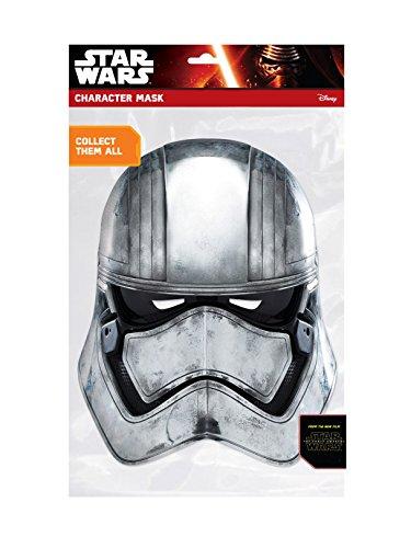 �Captain Phasma Face Maske–Mehrfarbig (Stormtrooper Karton Kostüm)