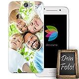 dessana Eigenes Foto transparente Schutzhülle Handy Tasche Case für HTC One A9