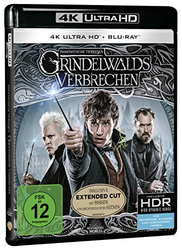 Phantastische Tierwesen: Grindelwalds Verbrechen (4K Ultra HD Kinofassung + 2D Kinofassung + 2D Extended Cut) [Blu-ray]