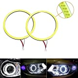 Anillos para faros Grandview, color blanco, 60 mm, LED COB 45SMD, con carcasa reflectante,...
