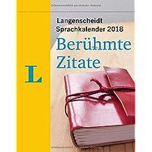 Langenscheidt Sprachkalender 2018 Berühmte Zitate - Abreißkalender