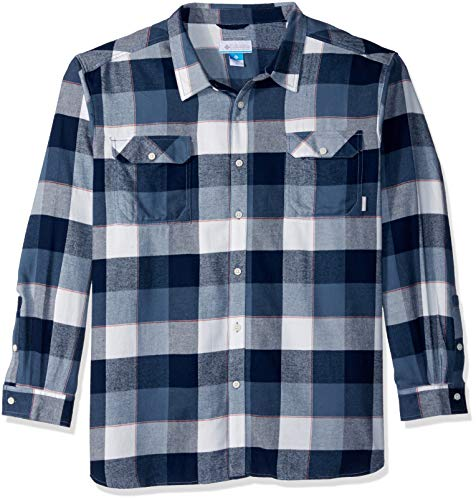 Columbia Herren Flare Gun Big & Tall Flannel III Long Sleeve Wanderhemd, Sea Salt Large Plaid, 4X Plaid Salt