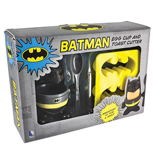Image of Official Batman Egg Topper, Egg Cup and Toast Cutter - Boxed