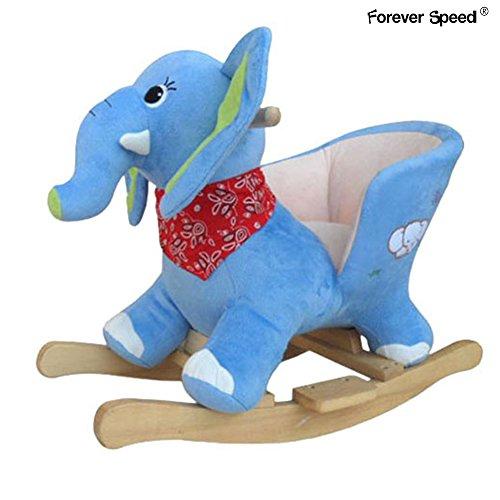 Forever Speed Kinder Schaukelpferd Schaukeltiere Schaukeltier Stuhl Schaukel Plüsch Elefant Sound Baby Spielzeug , weichen Sitz