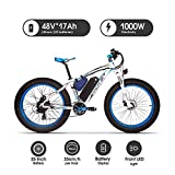 RICH BIT 022 E-Bike Mountainbike, 1000W, 48V 17Ah Akku, 26' Zoll (Bleu)