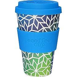 Ecoffee Cup Stargate Azul, Verde 1pieza(s) Taza y tazón - Taza/Vaso (Solo, 0,4 L, Azul, Verde, Fibra de bambú, Silicona, 1 Personas(s), 1 Pieza(s))