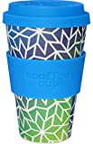 Ecoffee Cup: Stargate with Sky Blue Silicone 14oz, Reusable and Eco Friendly Takeaway Coffee Cup