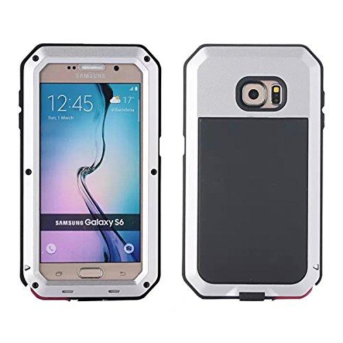 Wendapai Samsung Galaxy S6 G9200 wasserdicht Hülle, IP-68 wasserdicht stoßfest Dust Proof Snow Proof Full Body Schutz Hülle Hülle zum Samsung Galaxy S6 G9200 Screen - Silver