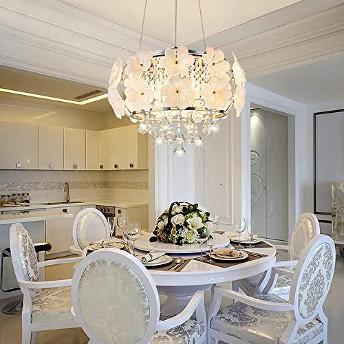 Modern Kristall LED Deckenleuchte Kronleuchter Pendelleuchte Kristall klassisch Chic-Stil Metall Florentiner, 36W Dimmbar φ45*H30cm -