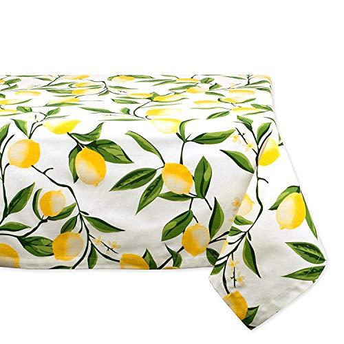 Tovaglia rettangolare in cotone per estate bbq catering, eventi, cene, occasioni speciali o uso quotidiano–152,4x 213,4cm limone bliss