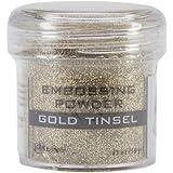 Embossing Powder 1oz Jar-Gold Tinsel