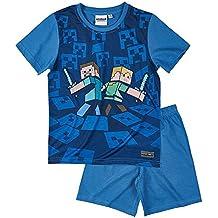Minecraft Chicos Pijama mangas cortas - Azul