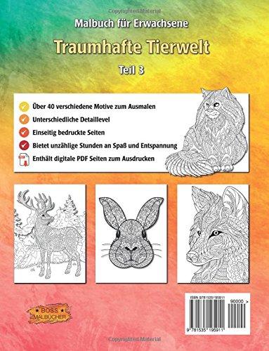 Traumhafte Tierwelt Malbuch Für Erwachsene Ausmalen Entspannen