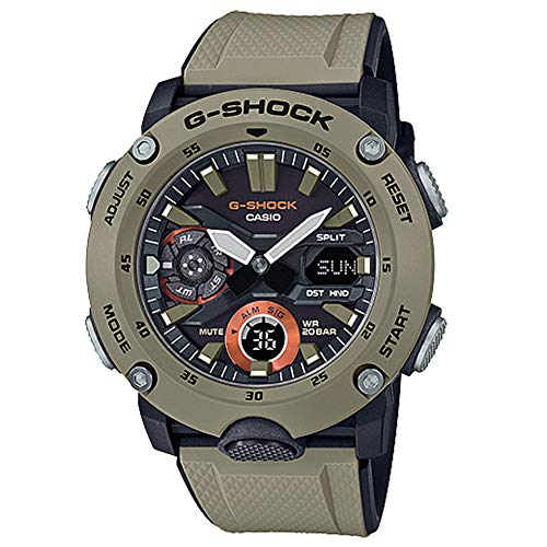 G-Shock By Casio Men's Analog-Digital GA2000-5A Watch Military Brown