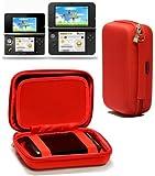 Navitech - Housse étui de transport anti-chocs, pour Nintendo 3DS XL (rouge)