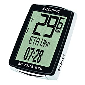 Sigma 01616 - Ciclocomputador, Unisex adulto, color Negro