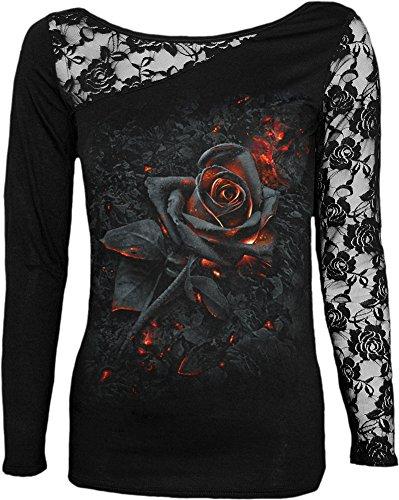 Spiral Burnt Rose Langarmshirt schwarz L