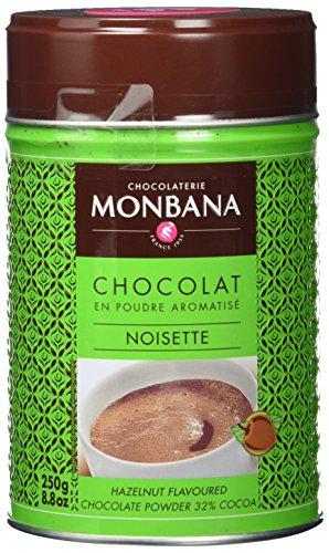 Monbana Schokoladenpulver Haselnuss 250g Dose (mind. 32% Kakao), 1er Pack (1 x 250 g) (Heiße Haselnuss Schokolade)