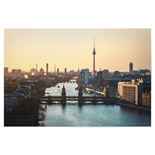 artboxONE Poster Berlin – Skyline Oberbaumbrücke von Künstler Jean Claude Castor
