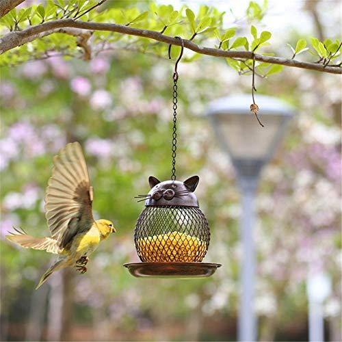 QINAIDI Metal Mesh Wild Bird Feeder, Palla di Semi di Girasole, Alimentatore di Semi di fringuello Resistente, Alimentatore da Appendere all'aperto