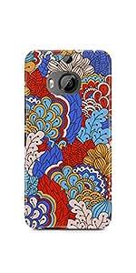 Casenation Vibrant Floral Matte Case Cover For Htc One M9 Plus