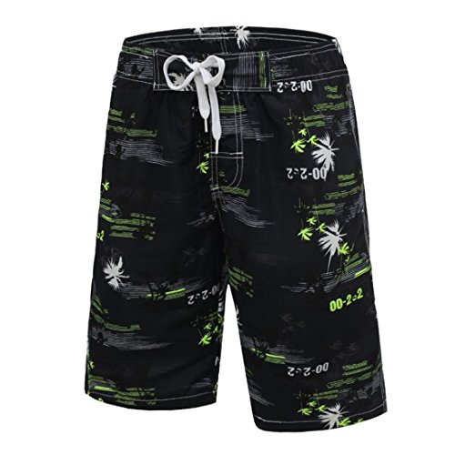 Men's Camo Casual Shorts LawnGreen