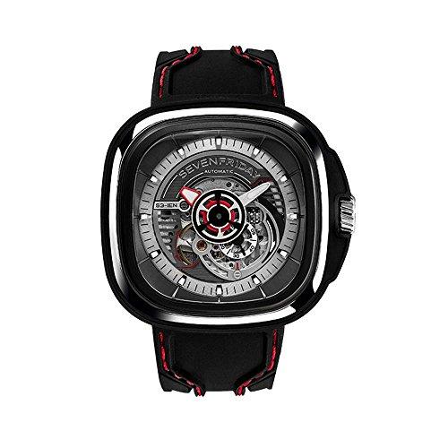 Seven Friday S-Series Herren-Armbanduhr 51mm Armband Silikon Automatik S1-03