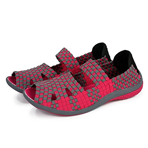 XiaoYouYu  Fitness Shoes, Basses femme Rouge - Rose/rouge