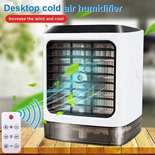 goodjinHH Mini Air Cooler, USB Klimagerät 3 in 1 Raumluftkühler | Mobile Klimaanlage | Luftkühler | Aircooler | Klimagerät Klima tragbar mit 3 Leistungsstufen&7 Farben LED-Licht (Weiß)