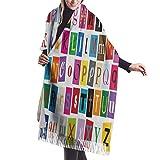Istruzione Scultura didattica Sciarpa di cashmere Sciarpe avvolgenti donna di qualità premium Sciarpa ultra morbida Sciarpa invernale Silenziosa Sciarpa invernale Must