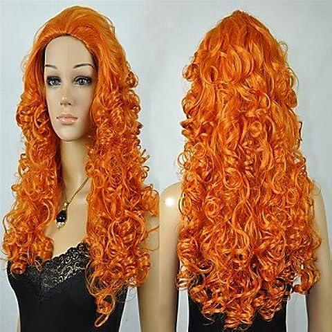 OOFAY JF® moda arancione lungo cosplay parrucche del partito delle