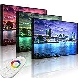 Lightbox-Multicolor | LED Bild | Skyline New York | 100x70 cm | Front Lighted