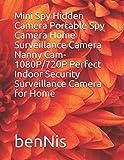 Mini Spy Hidden Camera Portable Spy Camera Home Surveillance Camera Nanny Cam- 1080P/720P Perfect Indoor Security Surveillance Camera for Home