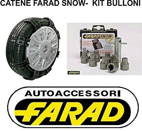 Chaînes à neige snow araignée type Farad (à) avec kit de 8boulons pour fixation