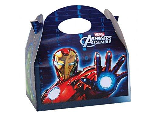 8x Marvel Avengers Party Meal Box ~ Kinder, die Kinder tragen Food Geburtstag Party Beute Beutel Karton ~ Iron Man/Thor/Incredible Hulk/Captain America