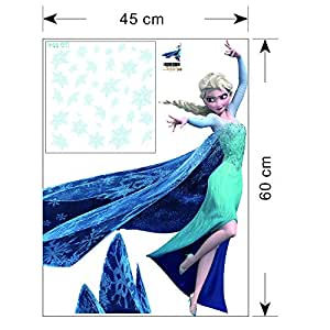 QUEEN ELSA Frozen Princess Decal Removable WALL STICKERS DIY 3d wallpaper by Revesun