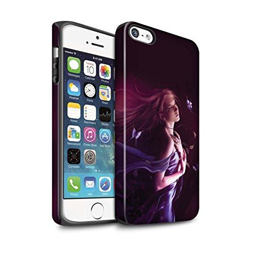 Officiel Elena Dudina Coque / Matte Robuste Antichoc Etui pour Apple iPhone 5/5S / Fille de Lune Design / Un avec la Nature Collection Par le Vent