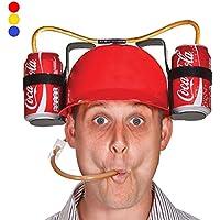 Kopfhörer zu trinken mit Stroh und doppeltem Halterung Flaschen Getränke rot preisvergleich bei billige-tabletten.eu