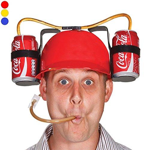 Helm Getränk mit Stroh und Doppel Getränke Flaschenhalter lila