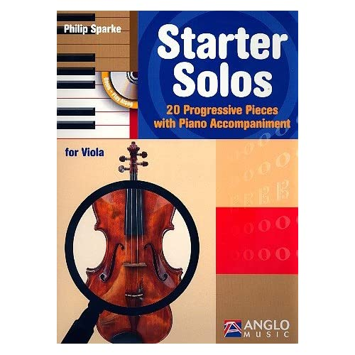 Starter Solos: 20 Progressive Pieces with Piano Accompaniment. Viola und Klavier (Leicht)