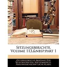 Sitzungsberichte, Volume 113, Part 1